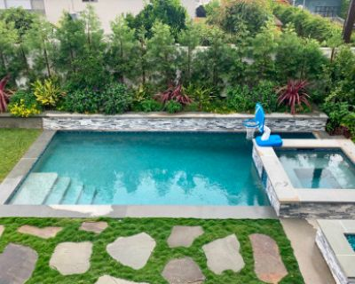 Beautiful Backyard Oasis with Pool and Jacuzzi, Los Angeles, CA