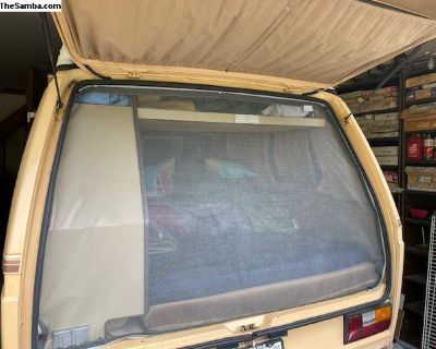 Rear Hatch Bug Screen VW Vanagon 80-92 New Snap in