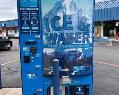 2018 Everest 5 Stage Ultra Purification Ice and Water VX4 Vending Machine