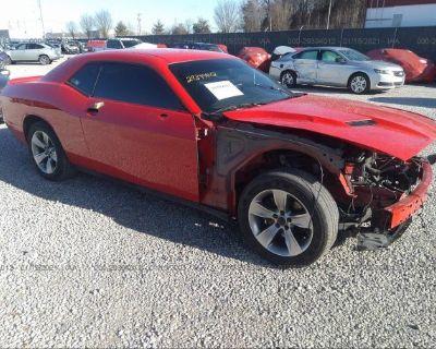 Salvage Red 2018 Dodge Challenger