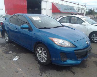 Salvage Blue 2012 Mazda Mazda3