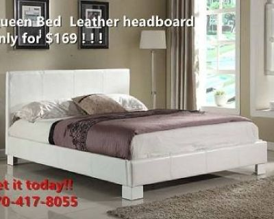 WHITE QUEEN BED ON SALE PRICE !!