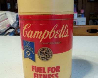 Vintage 1984 Olympics Campbells Soup Thermos