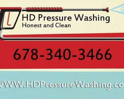 HD pressure washing. Veteran and firefighter owned
