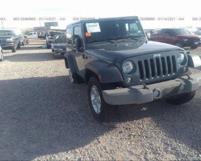 Salvage Gray 2015 Jeep Wrangler