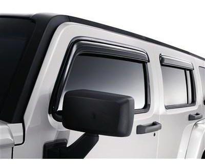 2006-2010 Hummer H3 Vent Visor Window Deflector Smoke 17801087 Genuine Oem Gm