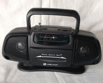 Vtg LIFELONG Mini Baby Boom Box AM/FM Portable Radio - NEW