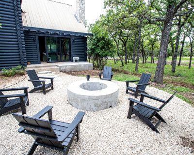 Modern Log Cabin on 2 Wooded Acres, Fredericksburg, TX