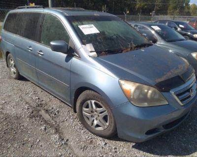 Salvage Blue 2005 Honda Odyssey