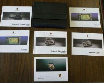 2008 Porsche Cayenne & Cayenne S Owner's Manual Set W/case. No Reserve.