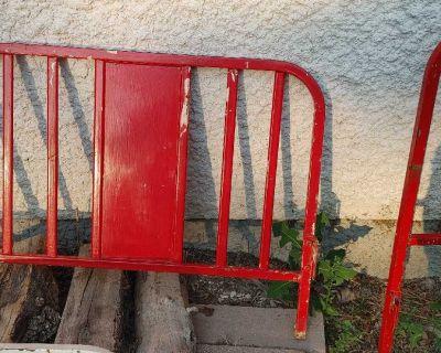 Antique iron bedstead