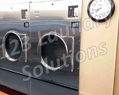 Fair Condition Cissell Stainless Steel Single Pocket Dryer CT050NDVB1G1N02 Used