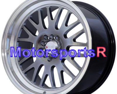 17 Xxr 531 Chromium Black Deep Lip Staggered Rims Wheels 5x100 17x8 17x9 Et +25