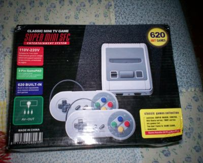 mini super nintendo with 620 games two controllers -- tv is not included
