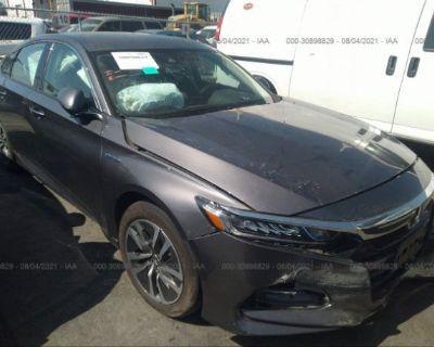 Salvage Gray 2020 Honda Accord Hybrid