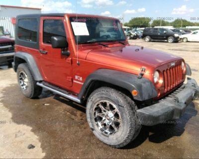 Salvage Orange 2009 Jeep Wrangler