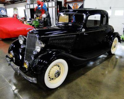1934 Ford 5 Window 2-door 5-Window All-Steel Deluxe Flathead V8 Original Restored Stock