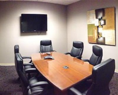 Private Meeting Room for 6 at Office Space & Solutions Virginia Beach