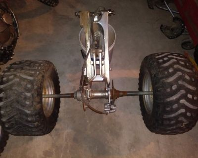 ISO ATV ATC Chain Drive Rear Axle Swingarm Complete Rear End