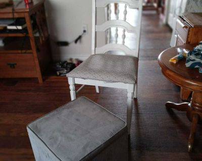Chair and storage ottoman