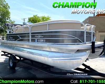 Used 2017 Sun Tracker Party Barge 20 DLX Pontoon Boat w/Mercury 90HP CT 4 S