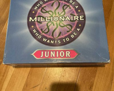 Who Wants to Be A Millionaire Junior Trivia game