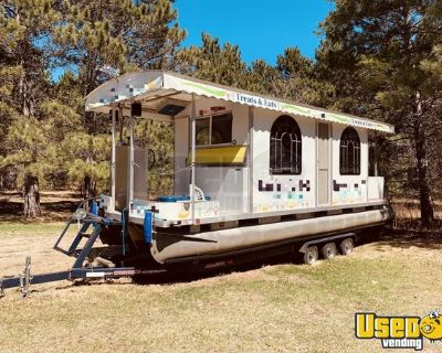Harris Tri-toon FloteBoat 24' Food Boat with Triaxle Trailer