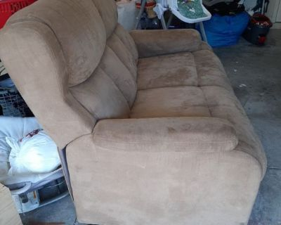 Love seat and recliner sofa