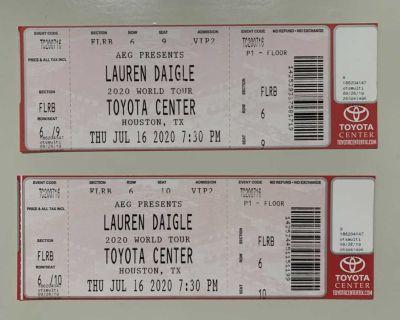 Lauren Daigle Floor Seats Row 6 Center