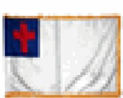 3'×5' Indoor Christian Flag with Fringe
