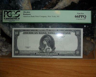1929 American Bank Note Company Rare {Obsolete Banknote} Specimen PCGS 66PPQ