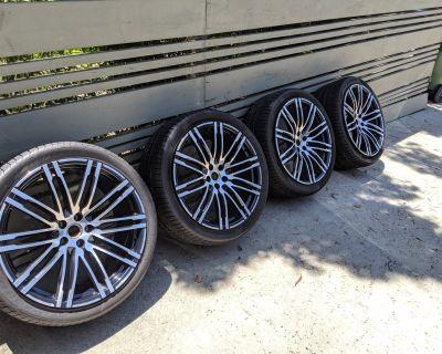 "21"" OEM Turbo Design Wheels and OEM Pirelli PZero Tires"