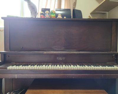 Free piano and bench