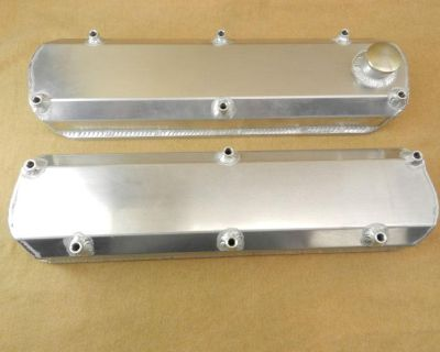 Billet Fabrication Inc Ford Billet Aluminum Fabricated Valve Covers 289 302 351w