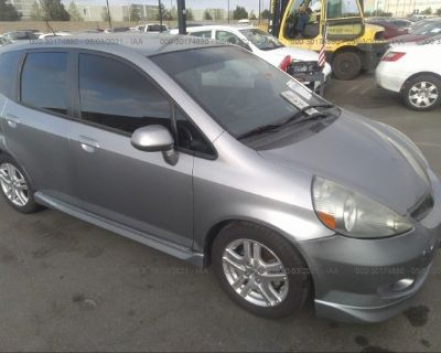 Salvage Silver 2008 Honda Fit