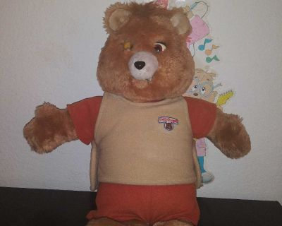 1985 TEDDY RUXPIN FOR PARTS OR REPAIR DOES NOT WORK