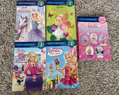Barbie early readers book lot 4 individual & 1 collection book with 5 books inside