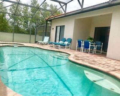 4 bedroom 3 bath free wifi private pool/spa 15 min to Disney 2 King bed suite - Four Corners
