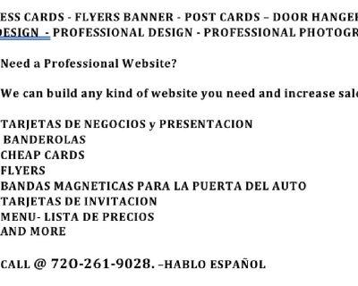 BUSINESS CARDS - TARJETAS DE NEGOCIOS - LOGOS - BANNERS