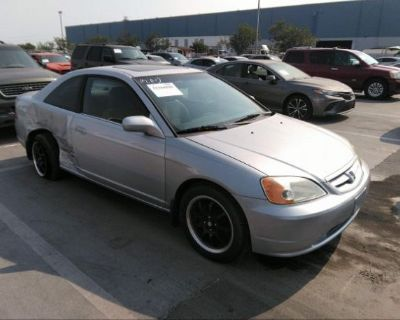 Salvage Silver 2002 Honda Civic