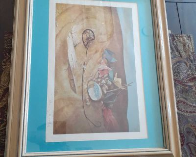 Manuel Gregorio Acosta signed print