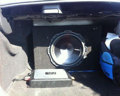 """W204/C63 Custom Enclosure+ 12"""" Rockford Fosgate P3 Sub+PioneerGM-D7500M amp"""