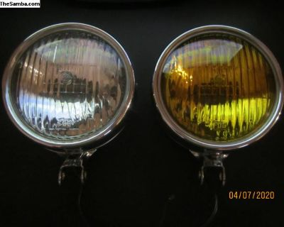 NOS GE foglights , Amber & Clear 4 inch