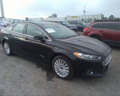 Salvage Black 2016 Ford Fusion