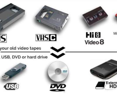 Transfer Video to DVD USB - VHS, HI 8, 8mm, digital8 tapes