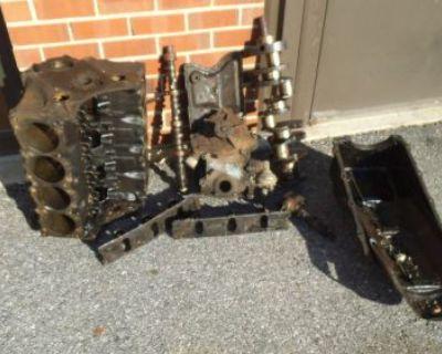 "1966 Pontiac Gto ""ws"" Tripower 4-spd Short Block Assembly Std Bore Cast 9778789"