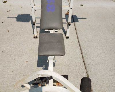 Weight Bench, Weight tree, 2 bars, plus weights