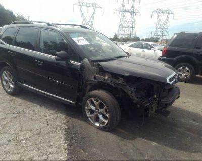 Salvage Black 2018 Subaru Forester