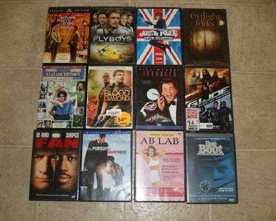 GREAT MIXED SET OF 12 DVD's !