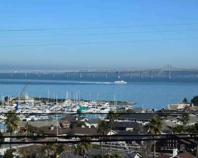 Idyllic Private Villa with Stunning S.F. Bay and Yacht Harbor View - Belvedere Tiburon